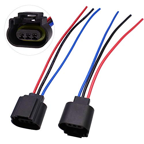 (HUIQIAODS H13 9008 H13LL Extension Wire Socket Adapter Wiring Harness for Headlights Headlamp Fog Light Lamps Bulbs 2Pcs)