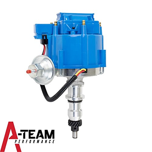 Distributor Blue Cap - A-Team Performance STRAIGHT 6 CYLINDER 240 & 300 65K COIL HEI Complete Distributor Compatible With FORD BLUE CAP F-100 F-150 F-250 E-100 E-150 1-Wire Instillation