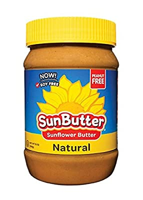 SunButter Sunflower Butter, Delicious, All Natural Alternative to Peanut Butter, 16 ounce plastic jars, Pack of 6 by Sunbutter