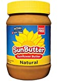 Sunbutter Sunflower Butter Delicious All Natural Alternative to Peanut Butter 16 ounce jars Pack of 6