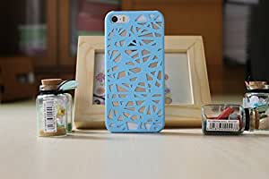 LYYF New Popular and Cute the Bird's Nest Hollow Out Hard Case/cover for Iphone 5/5s(Blue)