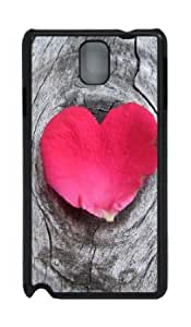 Samsung Galaxy Note 3 N9000 Case,Samsung Galaxy Note 3 N9000 Cases - heart shaped petal on wood PC Custom Samsung...