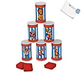 Bargain World Plastic Carnival Can Bean Bag Toss Game (With Sticky Notes)