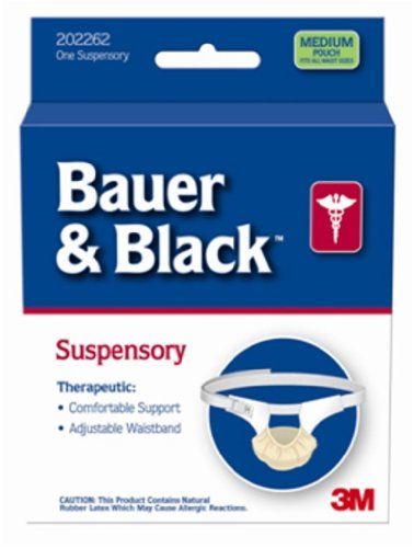 BD Bauer and Black Suspensory Without Leg Straps, Small, 48/Ca, BD202110 by Becton Dickinson