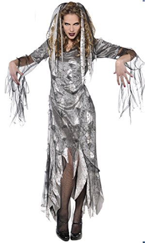 White Graveyard Ghost Costume (Adult Graveyard Zombie Costume - Small)