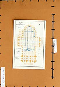 MAPA DE ALEMANIA 1961 COLOR PLAN DOM CHORSCHRANKEN