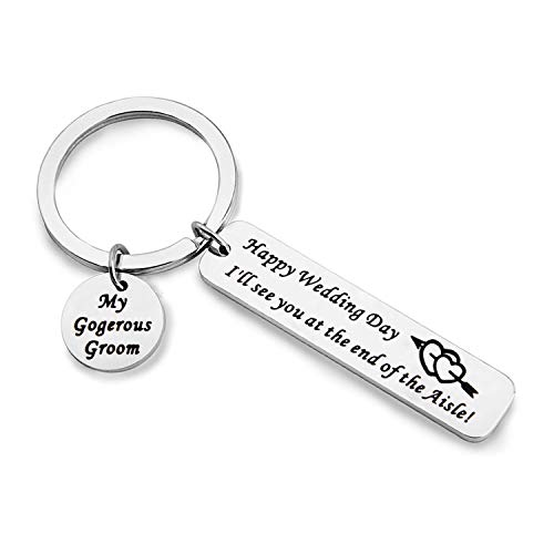 MAOFAED Groom Gift Husband Wedding Day Gift I'll See You at The End of The Aisle Gift for Groom from Bride Wedding Day Present for Groom Husband to Be Gift (My Gorgeous Groom)