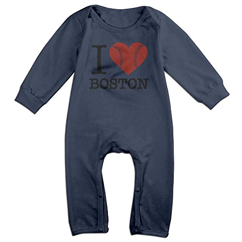 JOYJUN I Heart Boston Fashion Newborn Baby Jumpsuit Long Sleeve Bodysuit - In Stores Boston Ma
