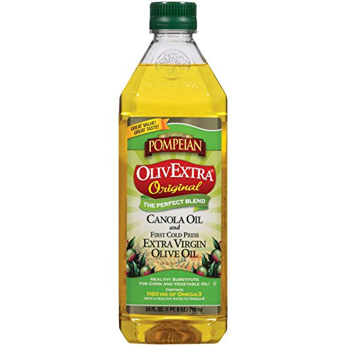 Pompeian OlivExtra Original Extra Virgin Olive Oil, 24 Ounce (Pack of 6)
