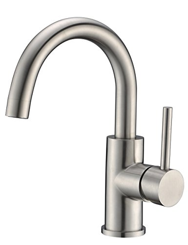 Cheap  CREA Modern Bathroom Sink Faucet Brushed Nickel Hot and Cold Cloakroom Bathroom..