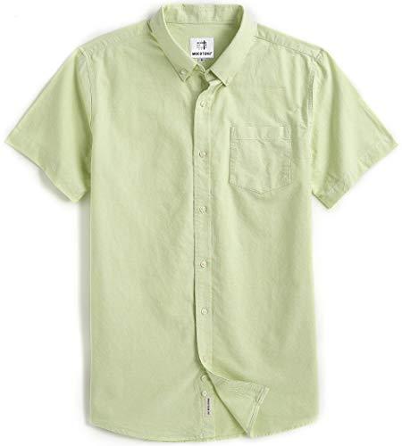 MOCOTONO Men's Short Sleeve Oxford Button Down Casual Shirt