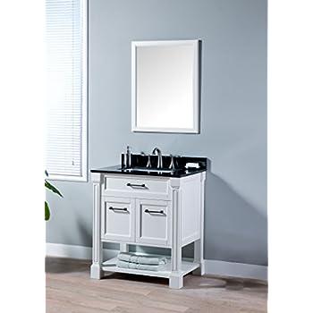 MAYKKE Delilah 30 Inch Bathroom Vanity Cabinet in Birch Wood White