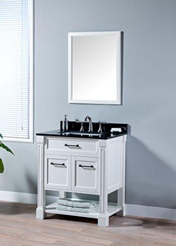 MAYKKE Delilah 30 Inch Bathroom Vanity Set in Birch Wood ...
