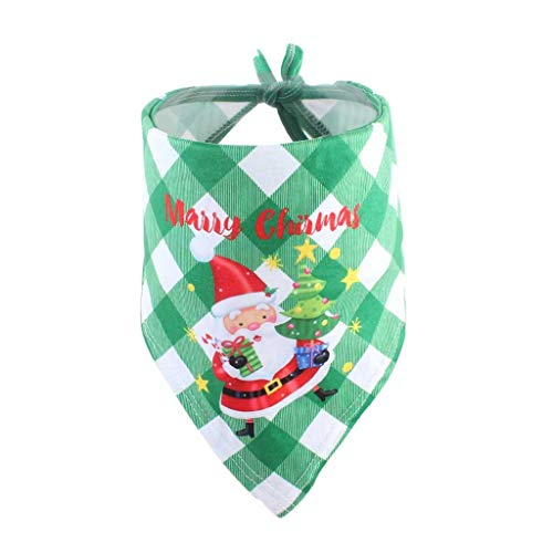 Dogs and Cats Dog Years Party Dog Bandana Christmas Pet Costume Stylish Santa Scarf Triangle Bibs Kerchief (B)