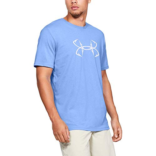 Under Armour Outerwear Men's UA Fish Hook Logo T, Carolina Blue (475)/White, Medium ()