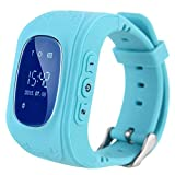 MOBILZA Q50 Smart Watch for Kids Children Wrist Watch with Anti-Lost, GPS Tracker, SOS Call, Location Finder, Compatible with iPhone and Android Smartphones (Blue)