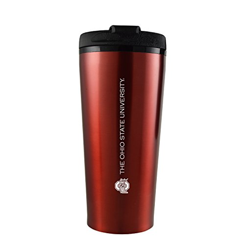Ohio State University -16 oz. Travel Mug (Ohio State Buckeyes Travel Mug)