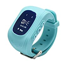 Q50 GPS Kids Watches Baby Smart Watch for Children SOS Call Location Finder Locator Tracker Anti Lost Monitor Smartwatch (SIM Card not Include) (Blue) by TKSTAR