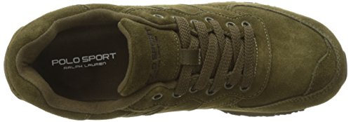 Polo Ralph Lauren Mens Slaton Pony Fashion Sneaker Deep Olive
