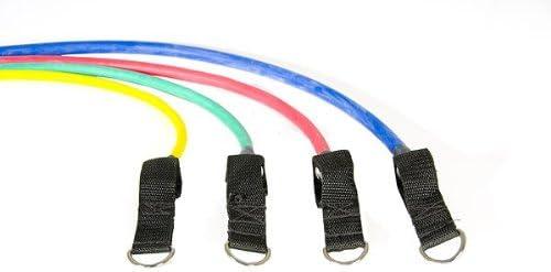 Rolle Tasche Anleitung etc. Bodylastics L Strongman Komplett-Set 6 Tubes Level 1-6 Schlaufen