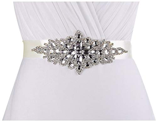 Lovful Ladys Rhinestone Crystal Sash Wedding Belt For Party Evening Dresses