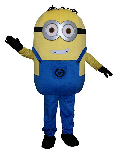 Minions Minion Halloween Adult Mascot Costume Fancy Dress Cosplay Outfit (style1) for $<!--$159.99-->