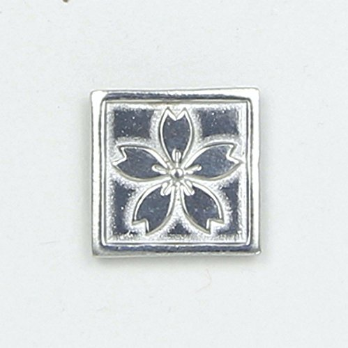 (Wild Flower Pin Square - Magnetic Back Closure - No holes in Clothes - Handcrafted Bright Polished Pewter Made in USA)