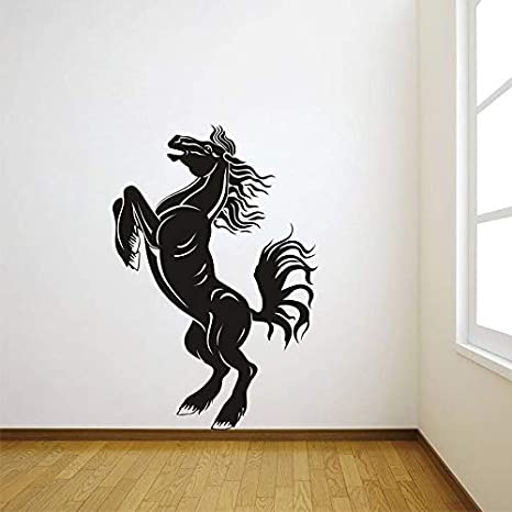 mlpnko Adhesivo de Pared de Vinilo patrón de Caballo calcomanía de Pared extraíble Sala de Estar Comedor Dormitorio decoración de la pared85X63cm