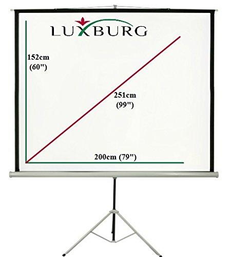 60x60 Blanc Mat Luxburg 85 152x152cm 1:1 /Écran de Projection avec Tr/épied