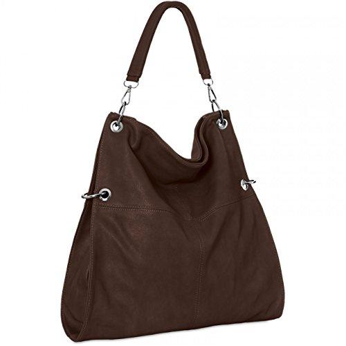 porté l'épaule TS561 multifonction coloris marron main femme CASPAR bandoulière à à plusieurs pour chocolat Sac wBpzcZqU