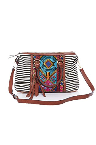 Chain 15731 BGS Bag Shoulder Stripe Leaf Tribal Way Two Tribal Dangle Womens wqBE7n