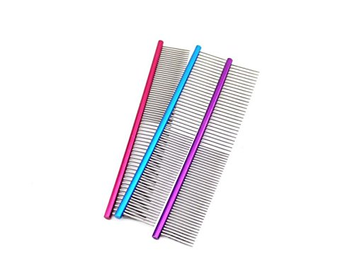 QYCL 16cm Pet Comb Professional Steel Grooming Comb Cleaning Hair Trimmer Brush Pet Dog Cat Accessories (3 Packs) by QYCL