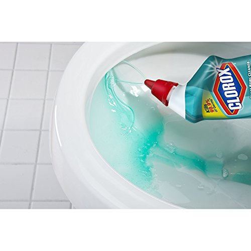 Clorox Clinging Bleach Gel Cool Wave Scent Toilet Bowl Cleaner, 24 Oz, Pack of 2