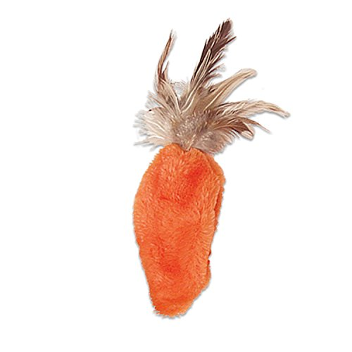 - KONG Feather Top Carrot Catnip Toy, Cat Toy, Orange