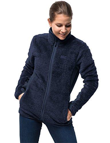 Jack Wolfskin Women's Pine Leaf Jacket, Midnight Blue Stripes, Large -