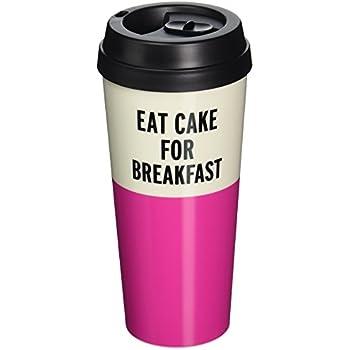 Kate Spade New York Thermal Mug, Eat Cake For Breakfast, , Pink