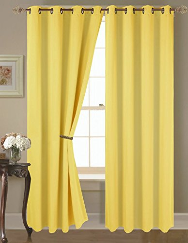 Empire Home Amber Solid Thermal Blackout Grommet Curtain Panel Extra Wide - Over 25 COLORS (84