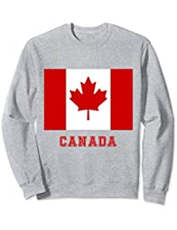 Canada Sweatshirt, Red and White, Red Maple Leaf Sweatshirt