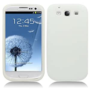 Silicone White Soft Cover Gel Skn Case For Samsung Galaxy S3 III i9300 i747 (Accessorys4Less)