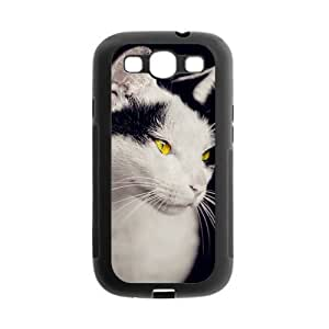 Animal Series Cute Cat Design Hot Black Case For Samsung I9300 GALAXY S3 With Best Rubber By All My Dreams
