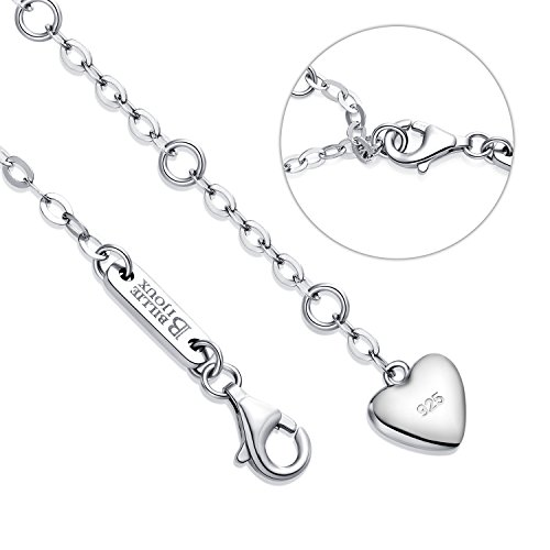 Billie Bijoux Womens 925 Sterling Silver Infinity Endless Love Symbol Charm Adjustable Bracelet Gift for Mother's Day (Blue) by Billie Bijoux (Image #4)