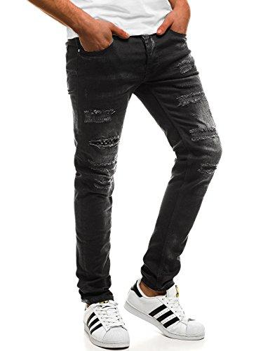 OZONEE Hombre Pantalones Vaqueros Pantalón Chándal Pantalones Deportivos Pantalones de Ocio Pantalón chándal Jogger Otantik 1805 Negro_ozonee-b/1792