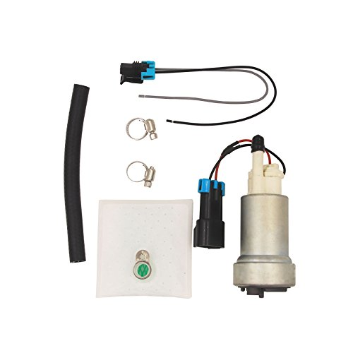 CUSTONEPARTS New High Performance High Flow Universal Electric Intank Racing Fuel Pump For Racing Tuning Cars With Installation Kit E85 450LPH 12V F90000267 ()