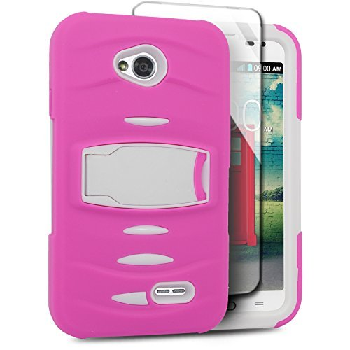 Eagle Cell Hybrid Armor Case Built In Screen - Pink Lg Realm Phone Case