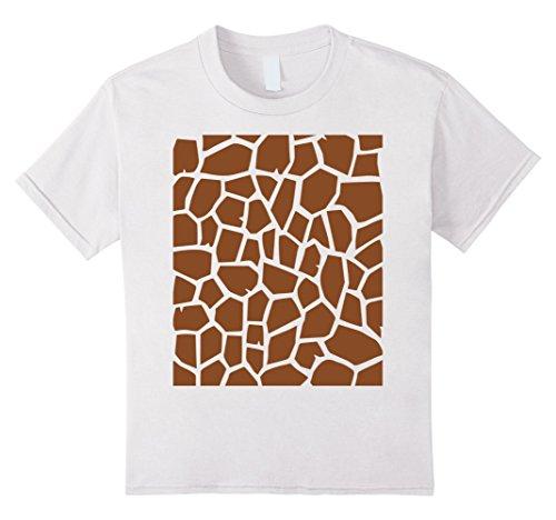 Kids Giraffe Print - Easy Halloween Costume Idea - Tee Shirt 12 White