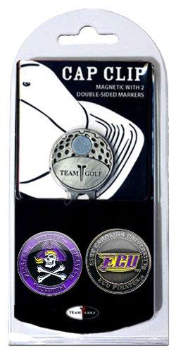 Tool Ball Cap Divot Golf (NCAA East Carolina Pirates Cap Clip With 2 Golf Ball Markers)