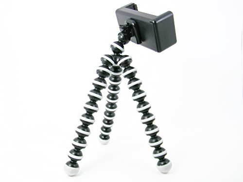 Tripod by Apex Includes Smartphone Holder, Octopus Style Black, ABS and Aluminum Perfect for Travel and Much More, Stand Above The Crowd with This Camera Tripod - Buy The Best Flexible Tripod