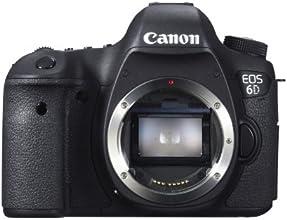 "Canon EOS 6D - Cámara réflex digital de 20.2 Mp (pantalla 3.2"", vídeo Full HD, GPS), color negro - Solo cuerpo"