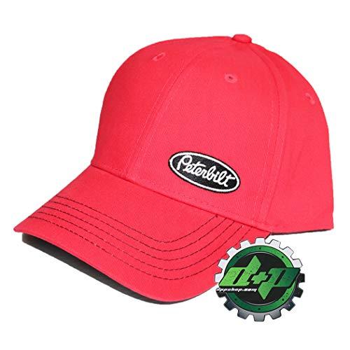 Sideswipe Hat - Peterbilt Motors Trucks Red Sideswipe Snapback Hat Side Logo PB Diesel Gear New