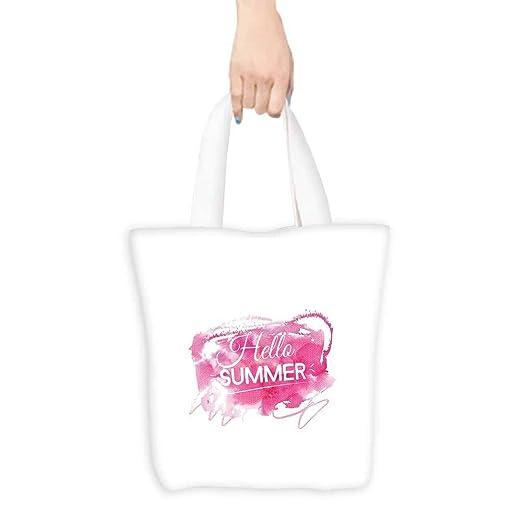 Hello Summer - Bolsa de comestibles con diseño de flores y ...